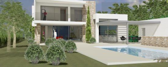 Villa intimiste - les issambres - joel lecouturier architecte