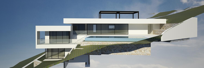 Villa dubai architecte contemporain les issambres joel lecouturier